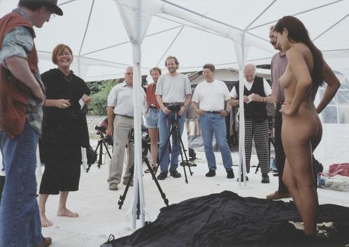 Suzan Farkas et ses élèves en formation: photographie de nu