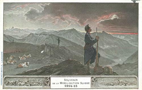 Suisse, souvenir de la mobilisation 1914-1915: carte éditée pour le banquet de l'ordre des avocats du 18.12.1915