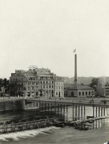 Genève, quai de la Poste: l'immeuble des photographes Boissonnas