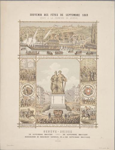 Genève, souvenir des fêtes de septembre 1869