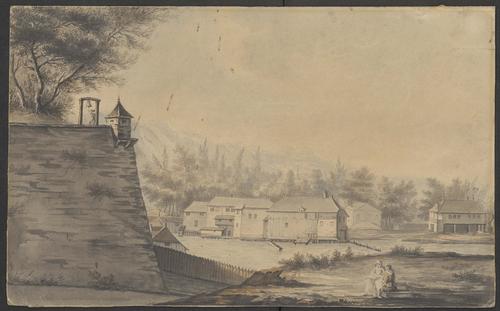 Genève, la Coulouvrenière: le bastion de Saint-Gervais, les moulins et l'hôtel de l'Arquebuse