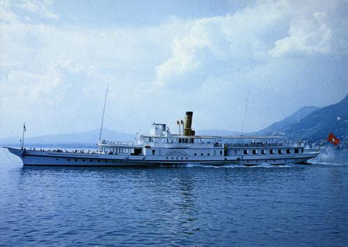 Villeneuve, bateau à roues à aubes Rhône