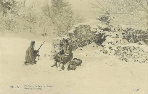 Poste d'observation durant la Première Guerre mondiale