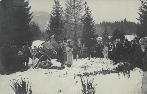 Lieu indéterminé, célébration ou commémoration militaire durant la Première Guerre mondiale
