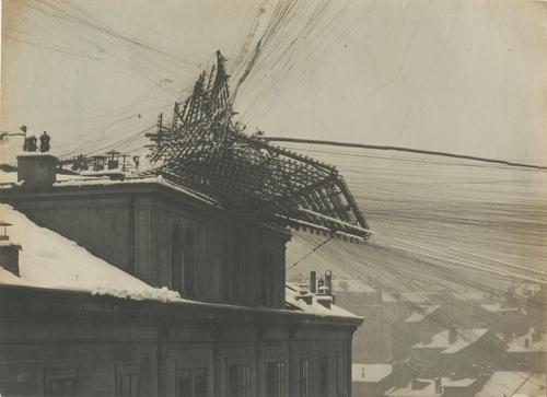 Genève, quai de la Poste: lignes téléphoniques endommagées par la neige