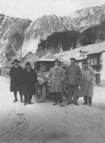 Valais, vallée de Conches: Gletsch (première traversée des Alpes à l'alcool)