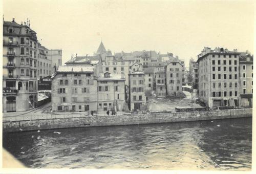 Genève, ancien quai du Seujet: chantier de démolition