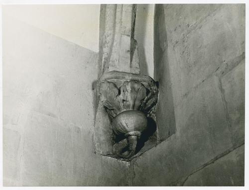 Genève, place de la Taconnerie: temple de l'Auditoire, détail