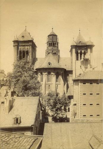 Genève, le chevet de la cathédrale Saint-Pierre