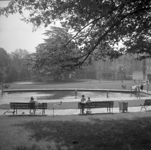 Genève, parc Beaulieu: pataugoire