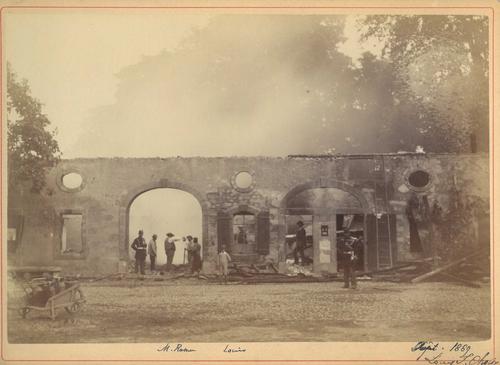 Vernier: incendie de la ferme de la propriété de Jean-Louis Naville-Todd