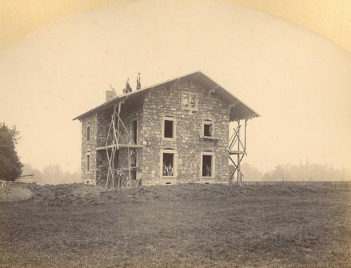 Genève, lieu indéterminé: construction d'une maison