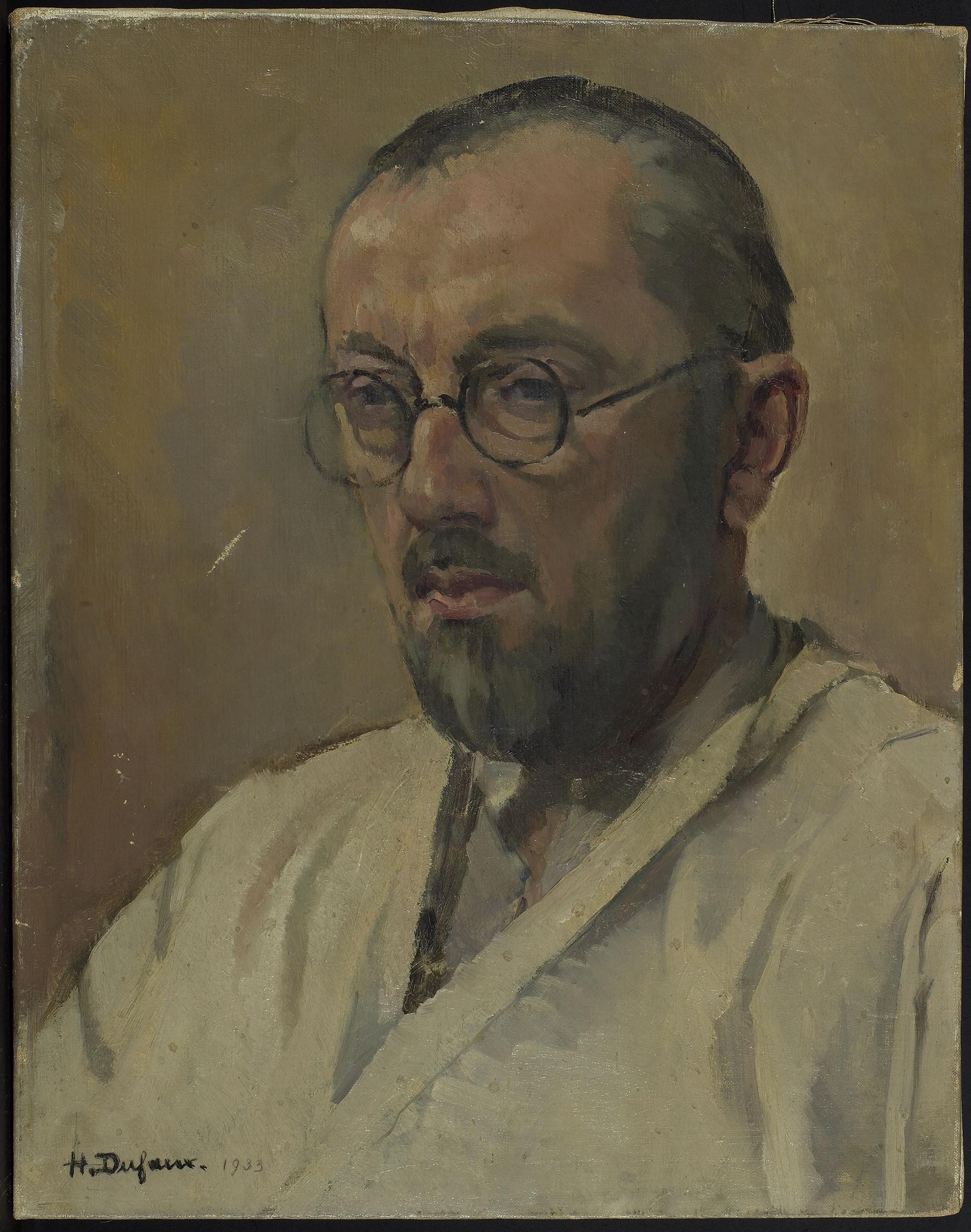Portrait de Maurice Sarkissoff (1882-1946), professeur à l'Ecole des beaux-arts de Genève, sculpteur et peintre