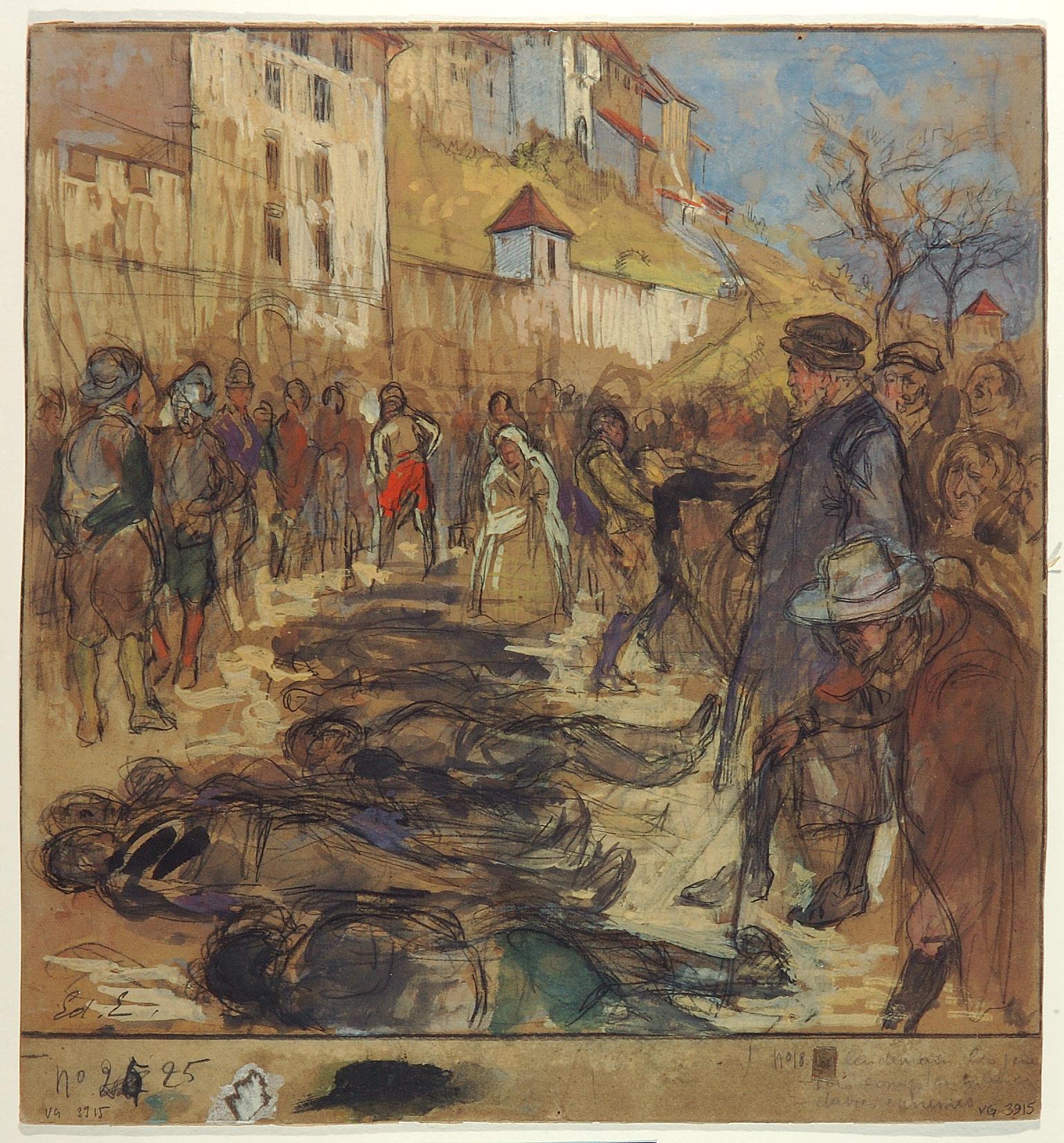 gen ve l 39 escalade les genevois devant les cadavres ennemis le matin du 12 d cembre 1602. Black Bedroom Furniture Sets. Home Design Ideas