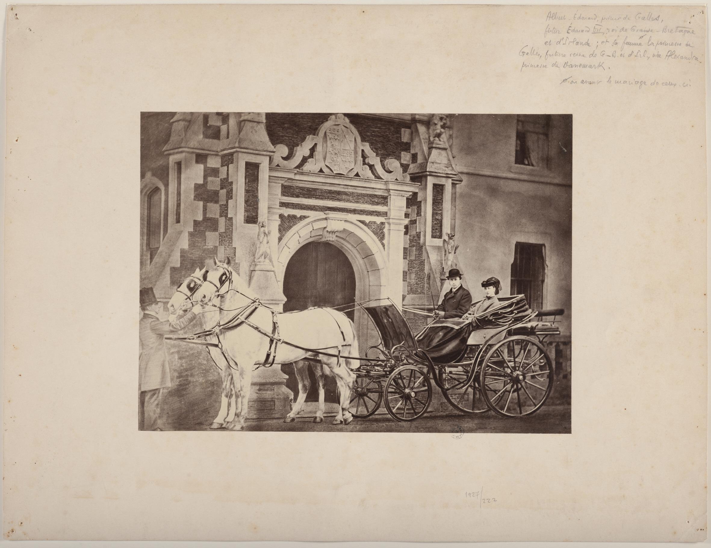 Portrait d'Albert-Edouard, prince de Galles et d'Alexandra, reine d'Angleterre